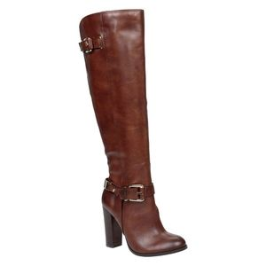 Aldo - Brown Leather Heeled Boots - 6.5